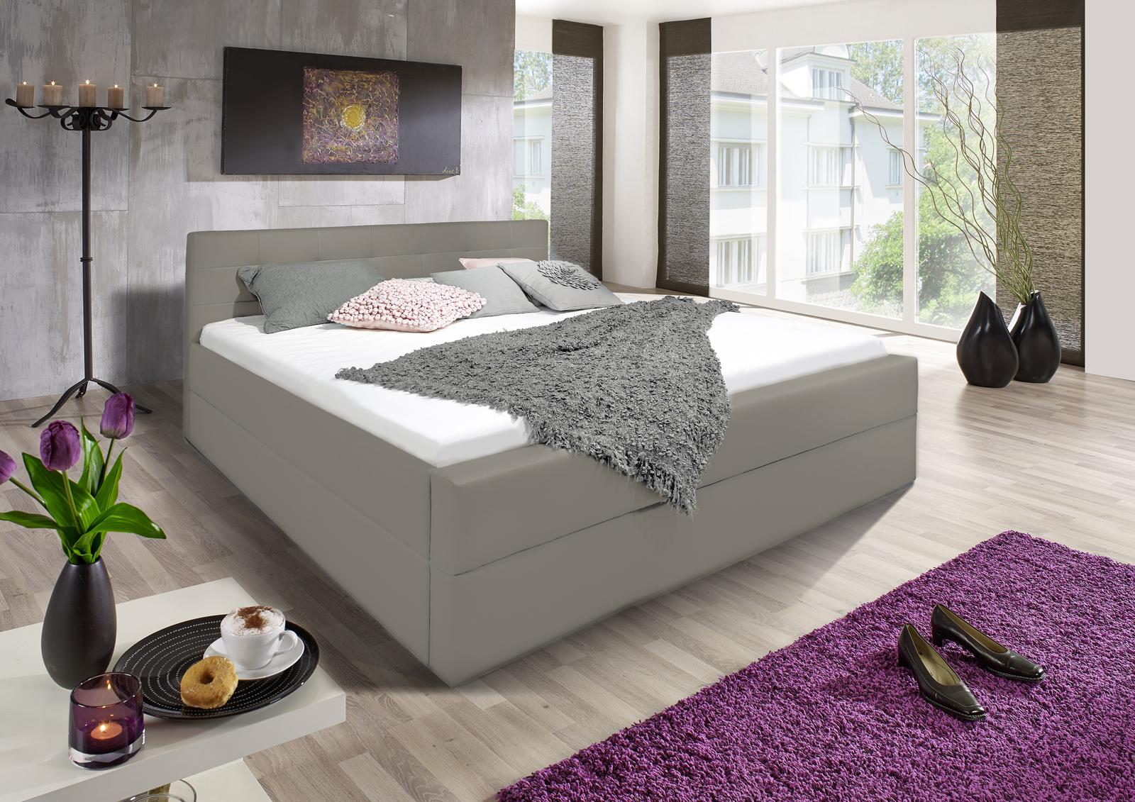 sam design boxspringbett 140 x 200 cm muddy kappa. Black Bedroom Furniture Sets. Home Design Ideas