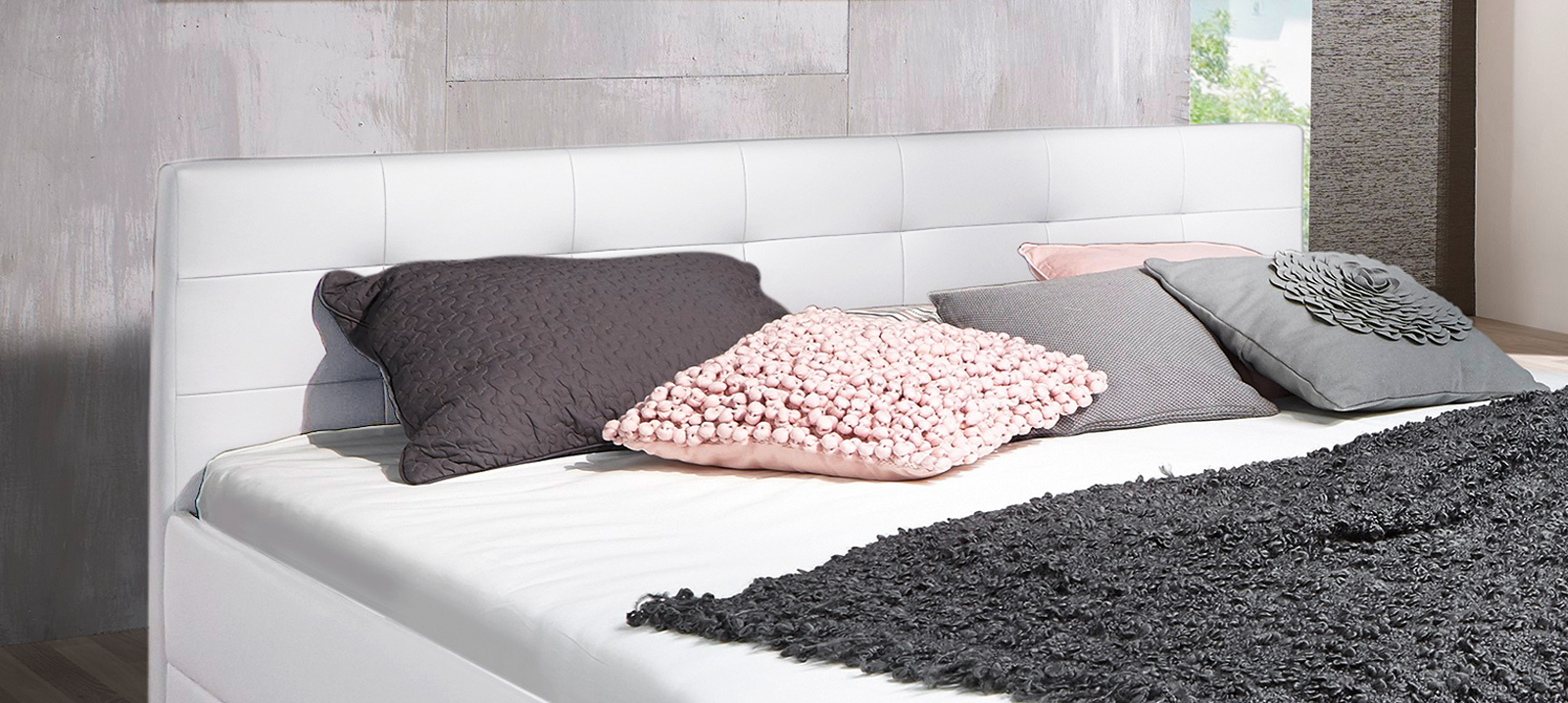 sam design boxspringbett 140 x 200 cm wei kappa. Black Bedroom Furniture Sets. Home Design Ideas