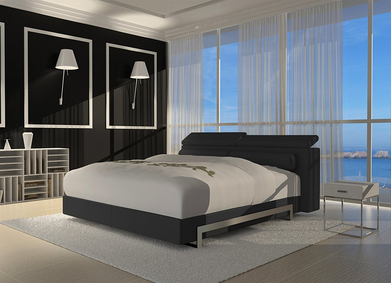 sam design boxspringbett 180 x 200 cm schwarz 27cm wendigo sledge. Black Bedroom Furniture Sets. Home Design Ideas