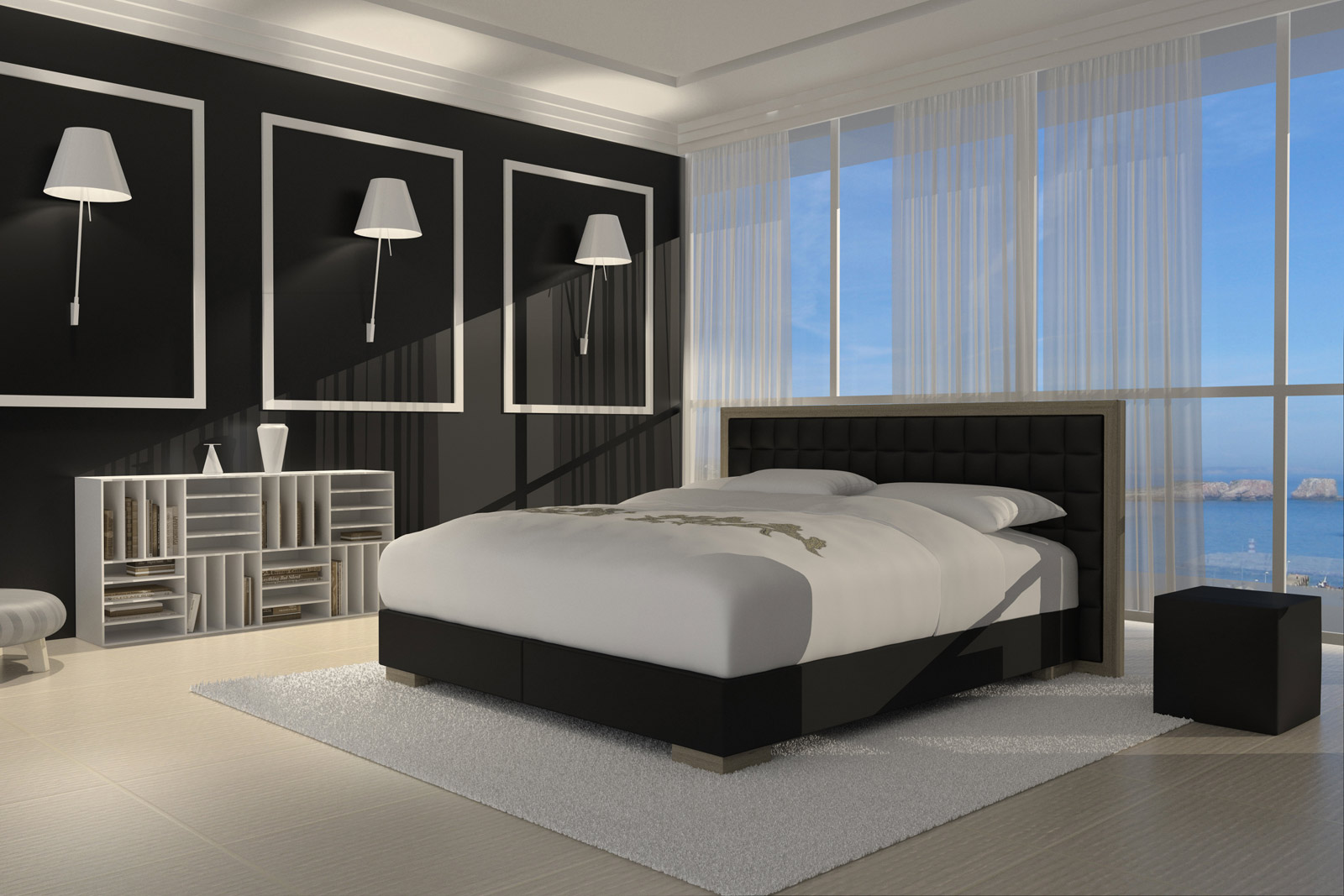 sam design boxspringbett 180 x 200 cm schwarz havanna. Black Bedroom Furniture Sets. Home Design Ideas
