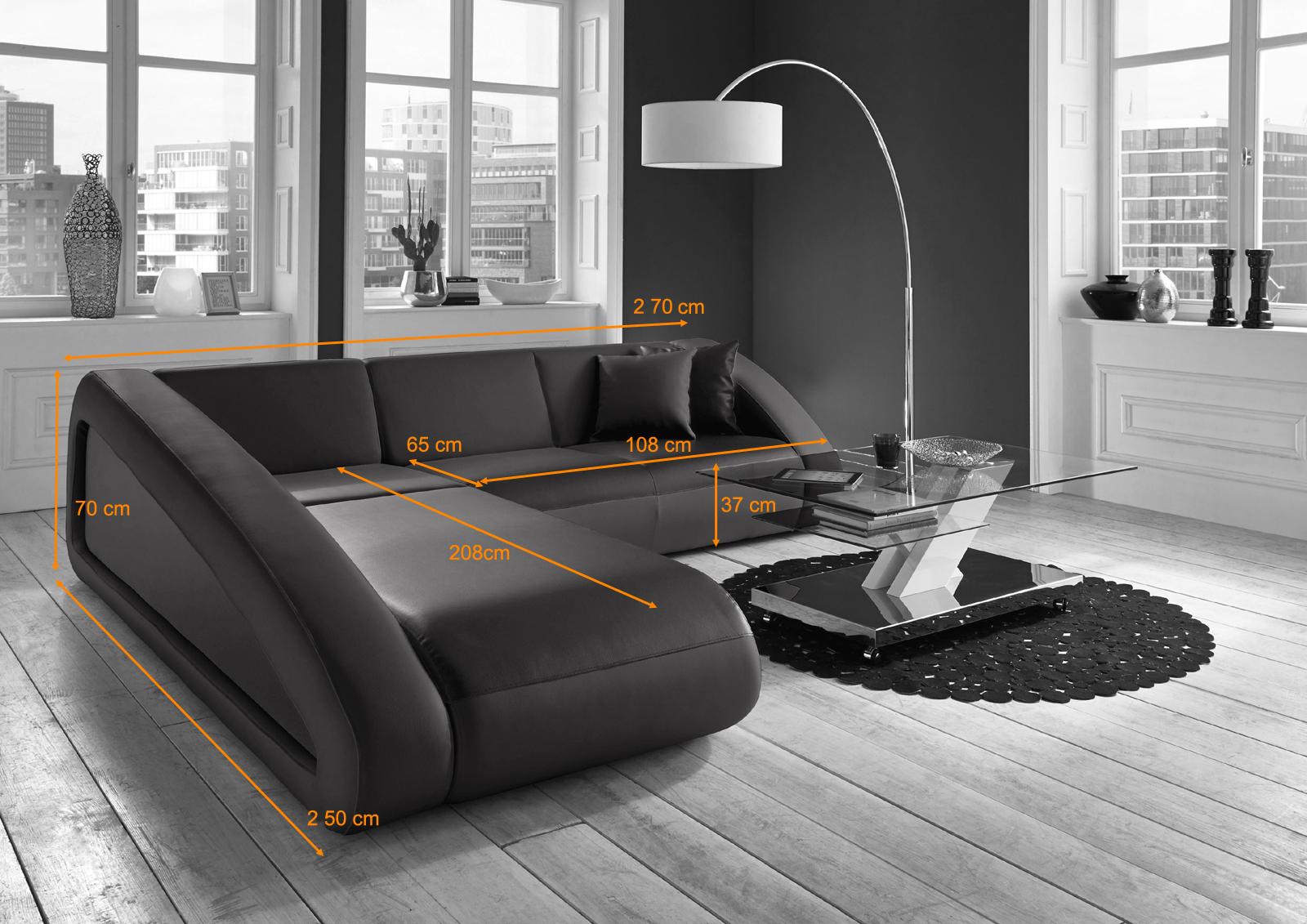 Sam design ecksofa farbauswahl ciao 250 x 270 cm for Design ecksofa