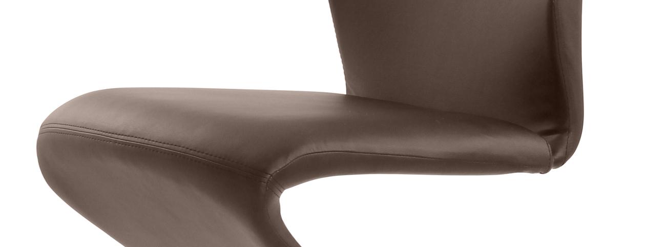 sam design freischwinger stuhl bernhard echtleder in braun nc2275. Black Bedroom Furniture Sets. Home Design Ideas