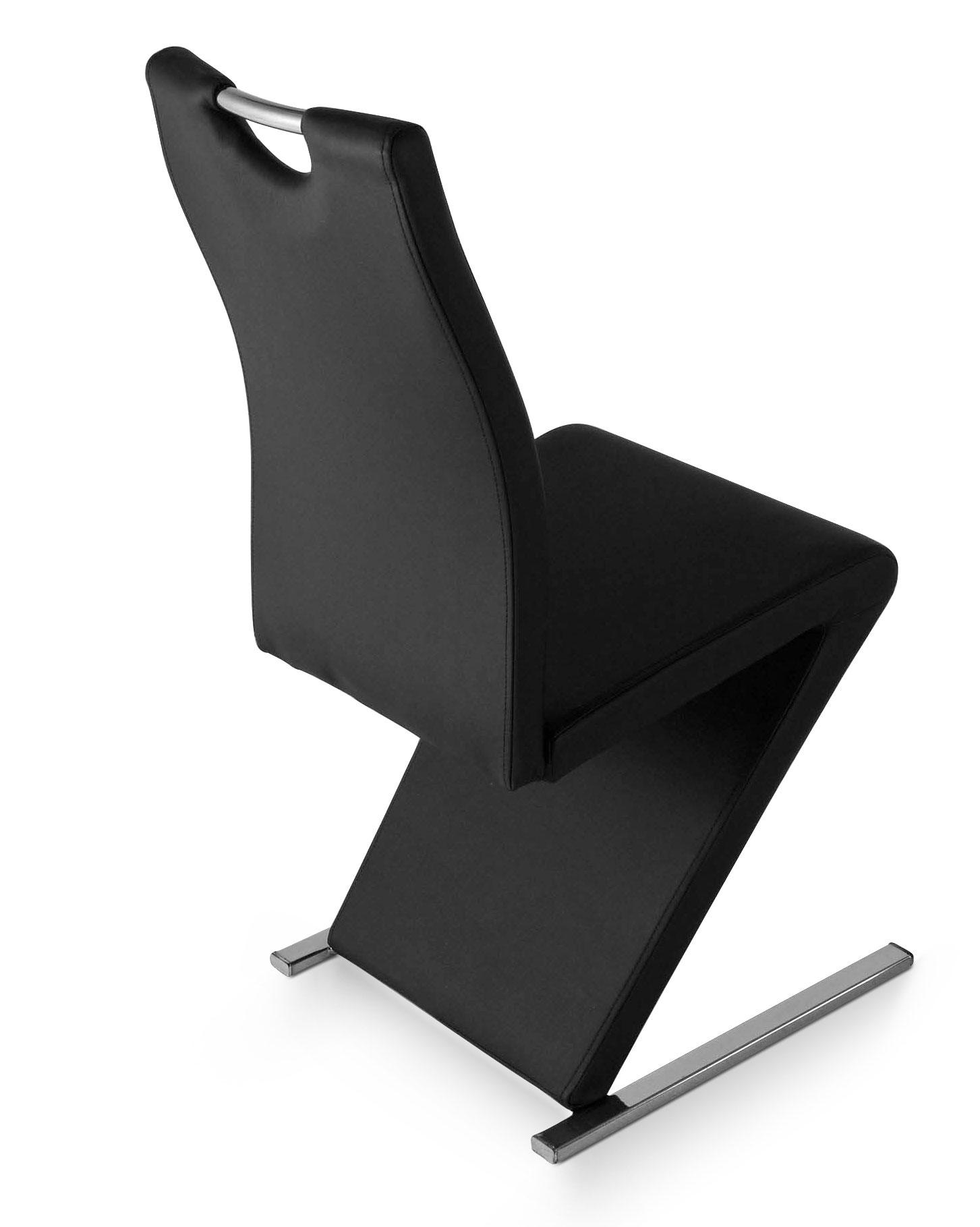 sam design freischwinger stuhl schwarz metall jana. Black Bedroom Furniture Sets. Home Design Ideas