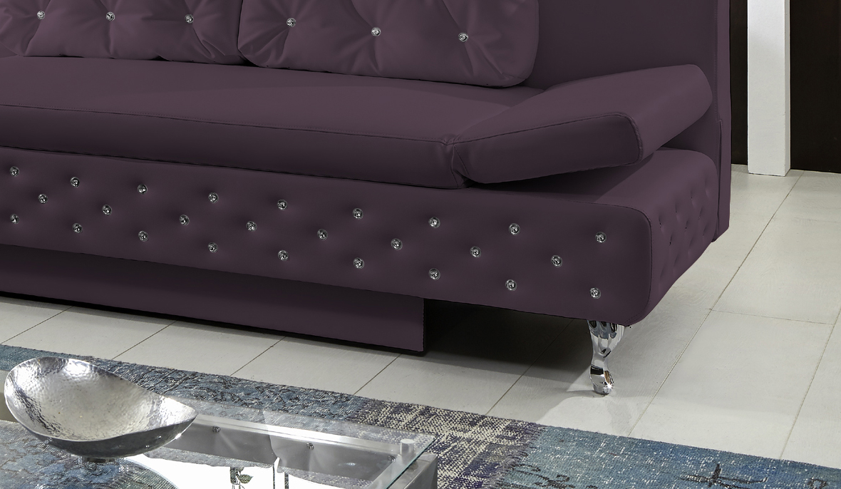 Sam® design schlafsofa abgesteppt lila roxy 200 cm