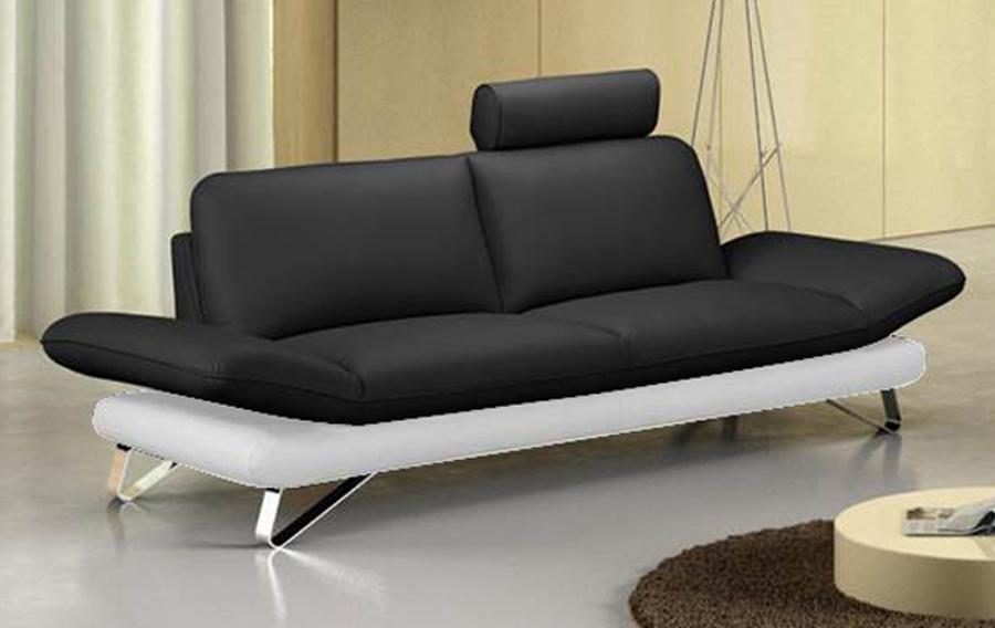 sam design sofa garnitur 2 3 sitzer schwarz wei taifun. Black Bedroom Furniture Sets. Home Design Ideas