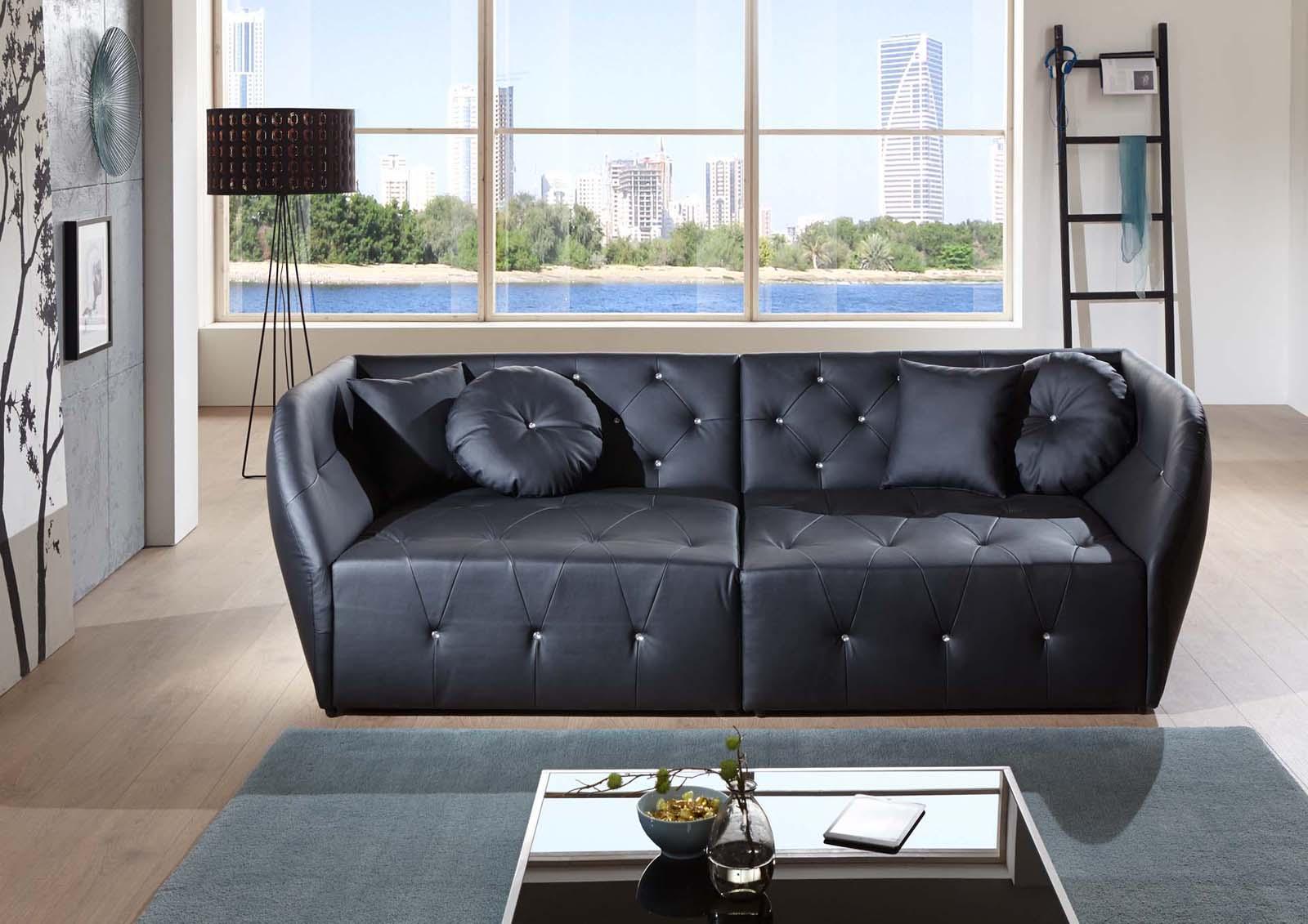 sam design sofa schwarz couch shel g nstig. Black Bedroom Furniture Sets. Home Design Ideas