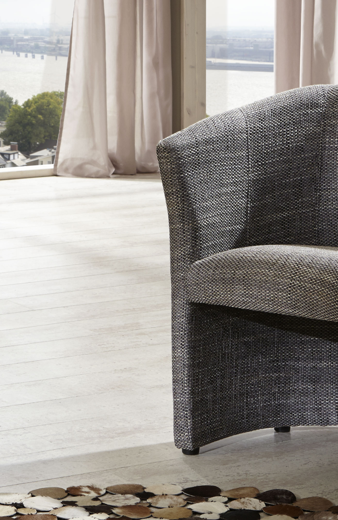 sam design wohnzimmersessel grau pur g nstig. Black Bedroom Furniture Sets. Home Design Ideas