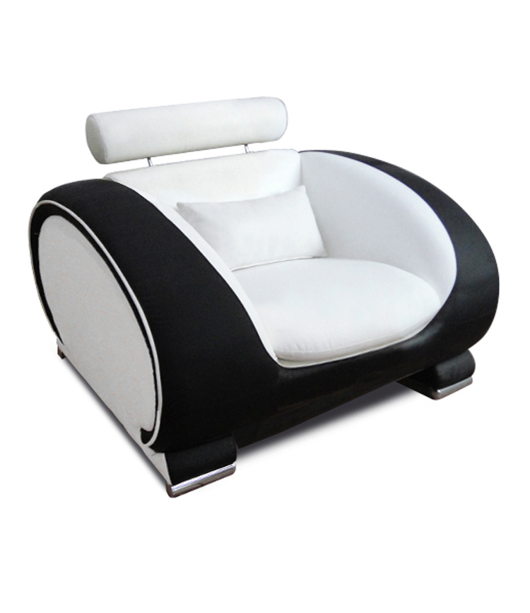 SAM® Design Wohnzimmersessel weiß schwarz Vigo