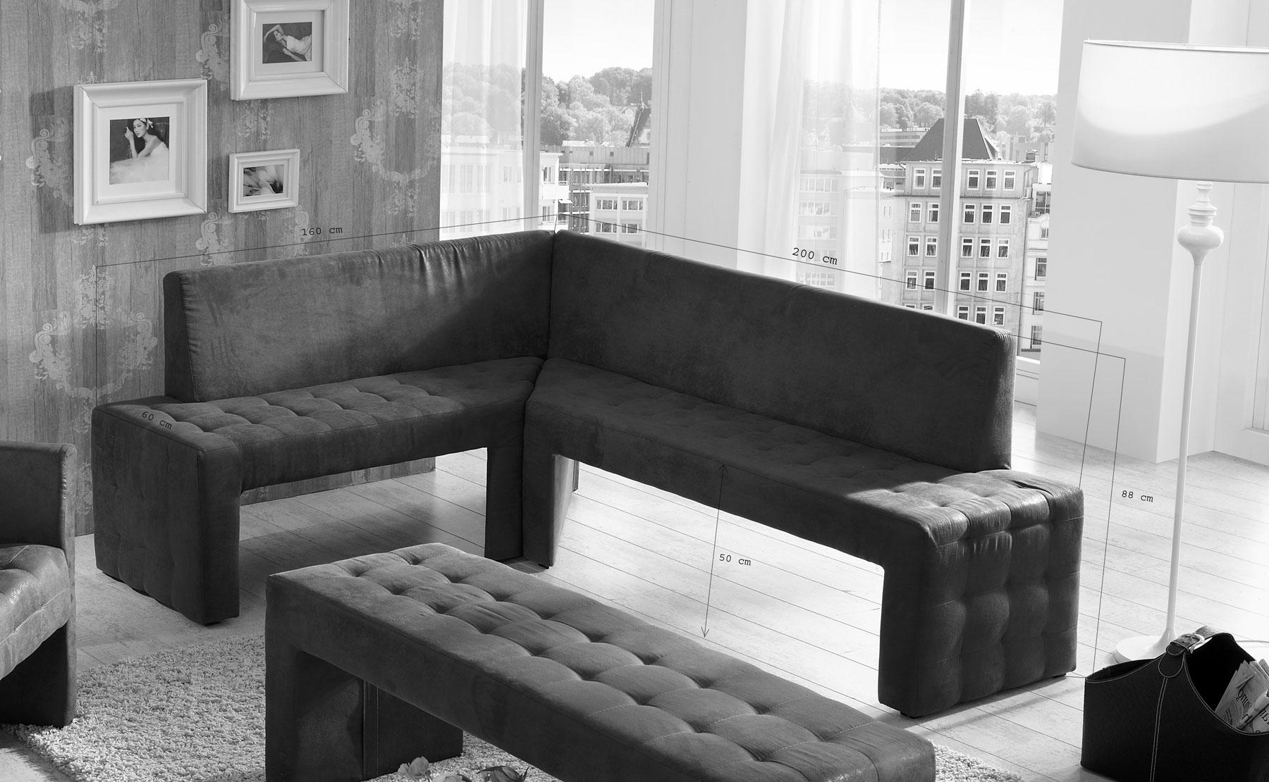 sam eckbank 160x200cm wildleder optik gobi braun karina ebg trend r. Black Bedroom Furniture Sets. Home Design Ideas