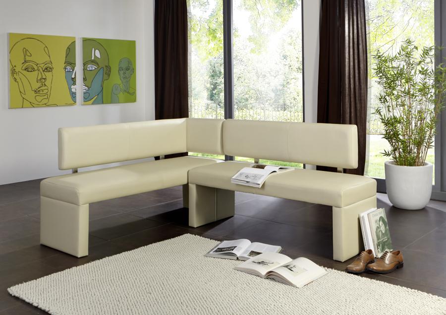 sam eckbank recyceltes leder 195 x 152 cm creme sandra. Black Bedroom Furniture Sets. Home Design Ideas