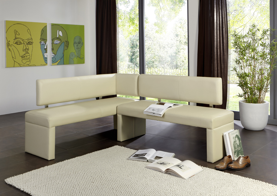 sam eckbank recyceltes leder 195 x 152 cm creme sandra. Black Bedroom Furniture Sets. Home Design Ideas