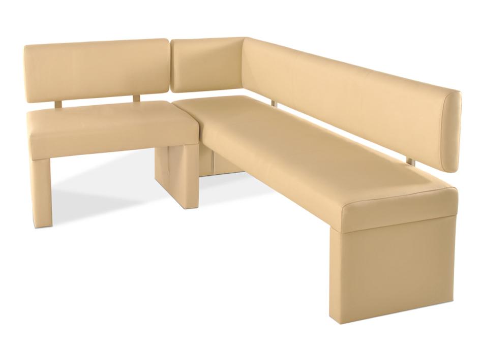 sam eckbank recyceltes leder creme cm x 170 cm lasandra. Black Bedroom Furniture Sets. Home Design Ideas