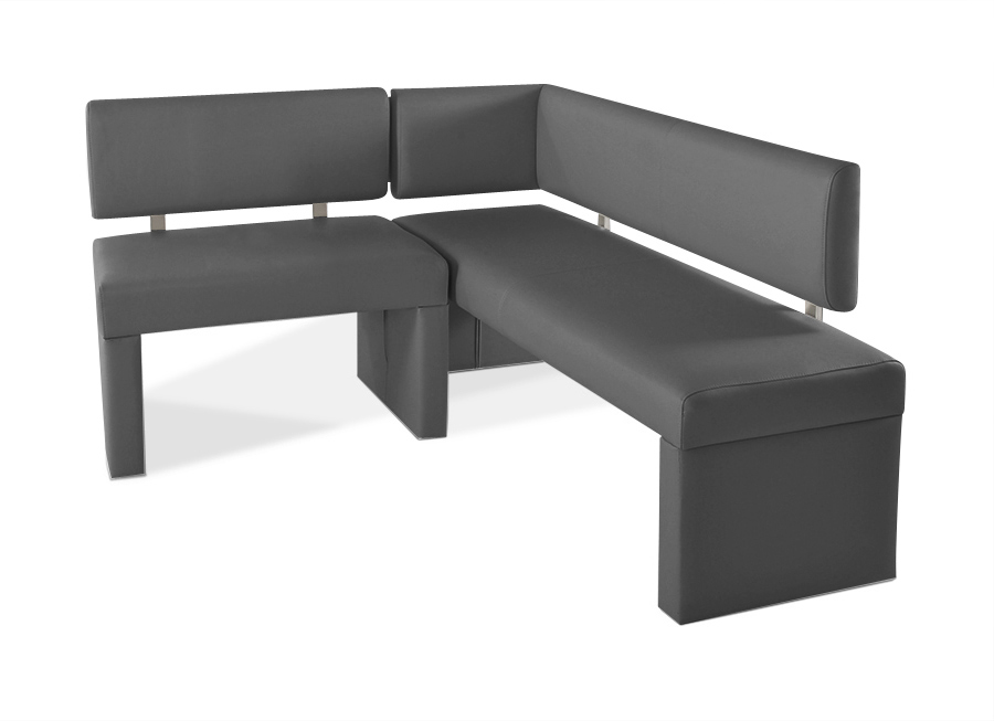 sam eckbank recyceltes leder grau cm x 150 cm sabatina. Black Bedroom Furniture Sets. Home Design Ideas