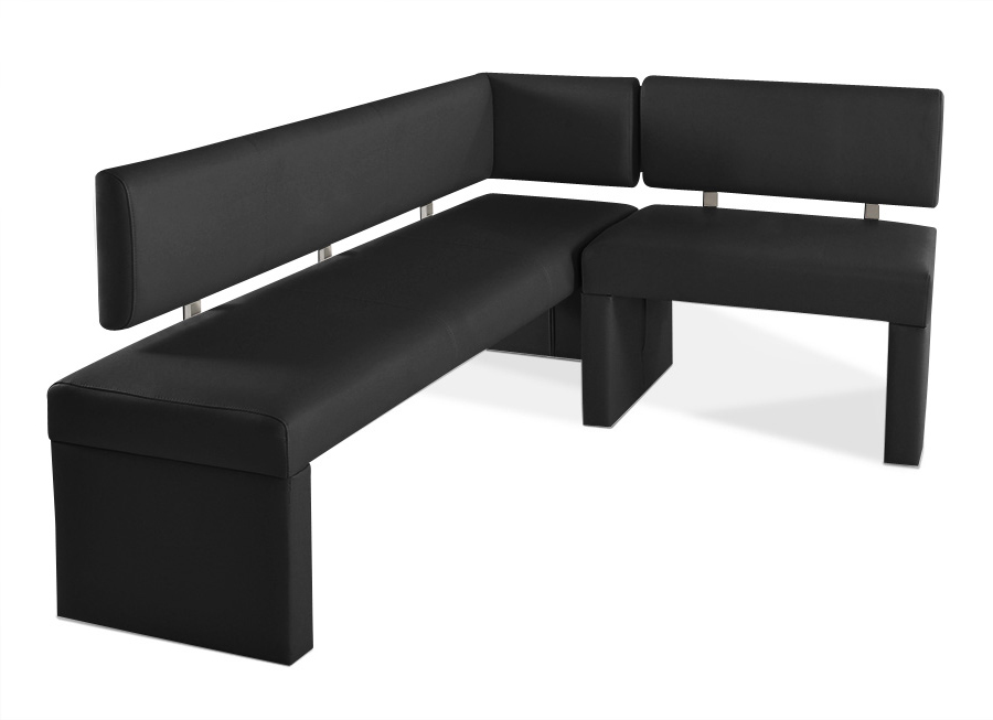 sam eckbank recyceltes leder nach ma schwarz 170 x cm sofia demn chst. Black Bedroom Furniture Sets. Home Design Ideas