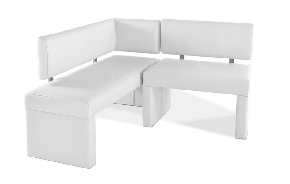 sam eckbank recyceltes leder wei 130 cm x cm selena. Black Bedroom Furniture Sets. Home Design Ideas