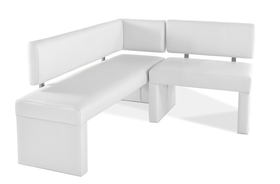 sam eckbank recyceltes leder wei 150 cm x cm selena. Black Bedroom Furniture Sets. Home Design Ideas
