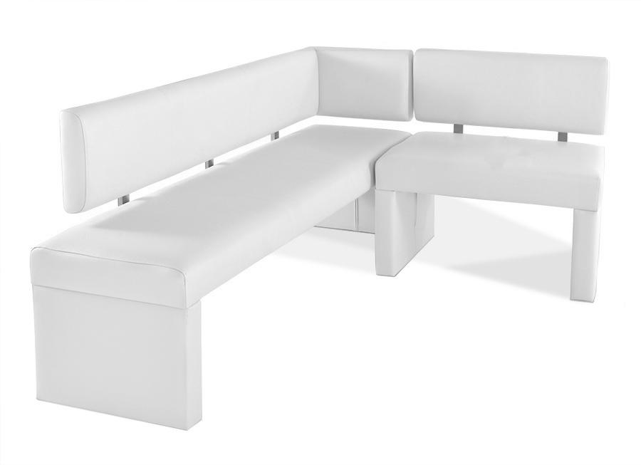 sam eckbank recyceltes leder wei 170 cm x cm selena. Black Bedroom Furniture Sets. Home Design Ideas
