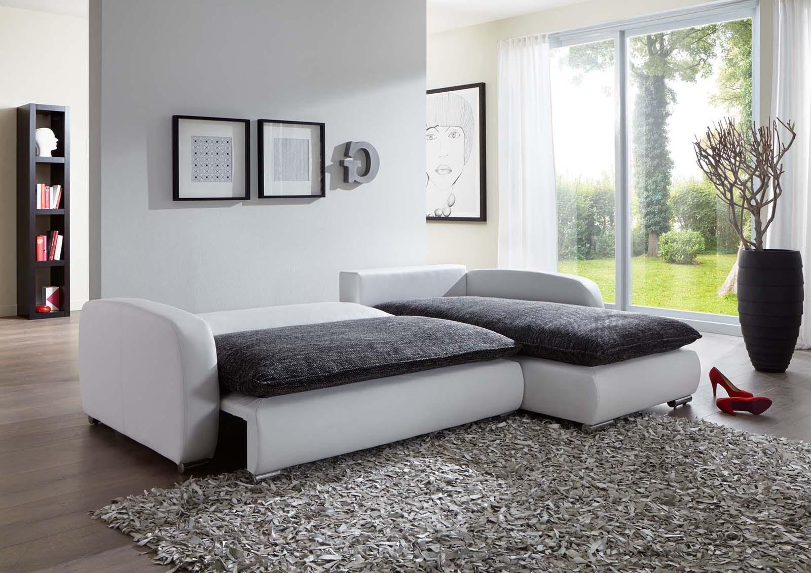 sam ecksofa grau wei scala 24 sofa 260 x 180 cm. Black Bedroom Furniture Sets. Home Design Ideas
