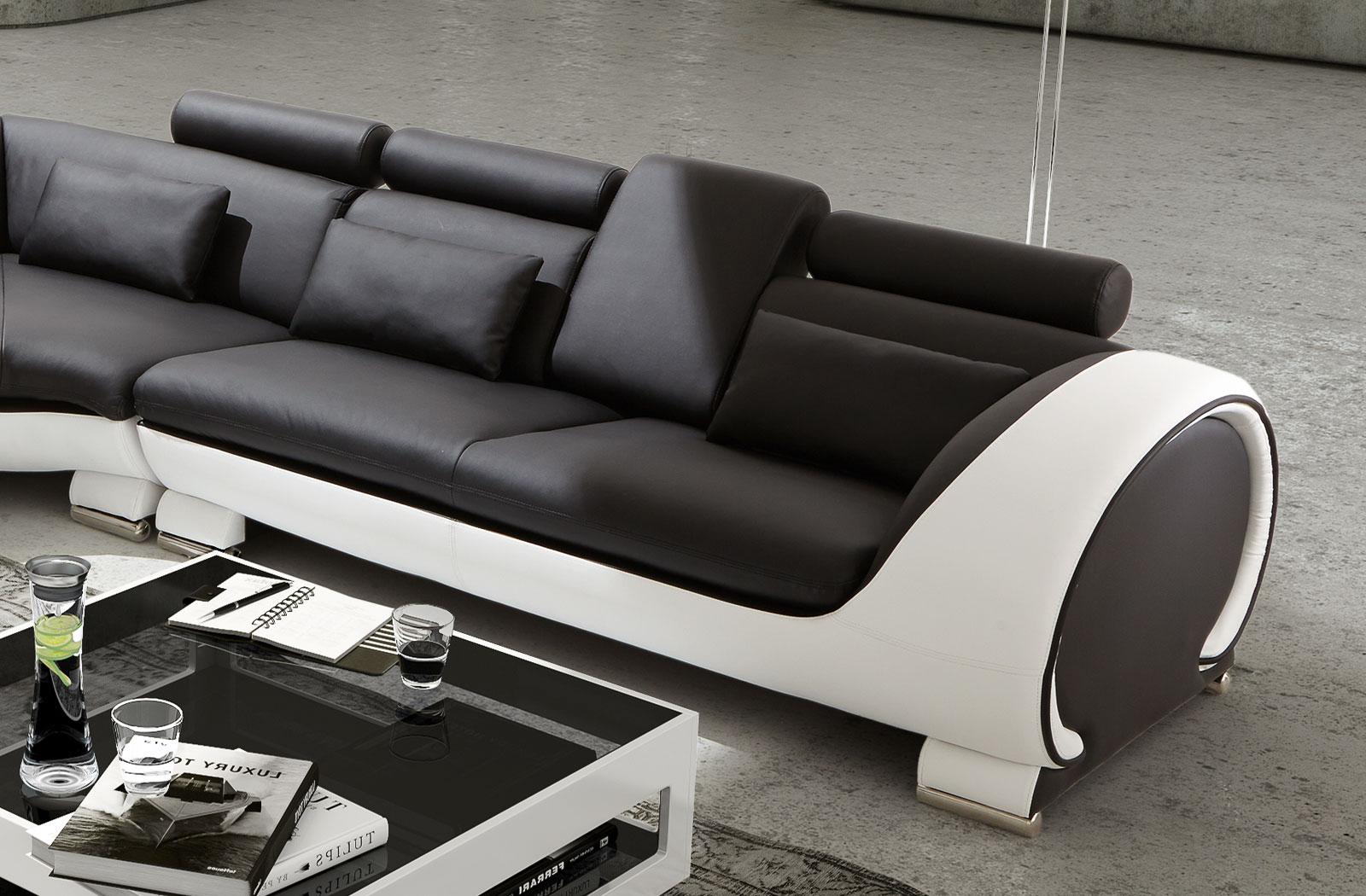 sam ecksofa schwarz wei vigo combi 4 couch 254 x 286 cm. Black Bedroom Furniture Sets. Home Design Ideas