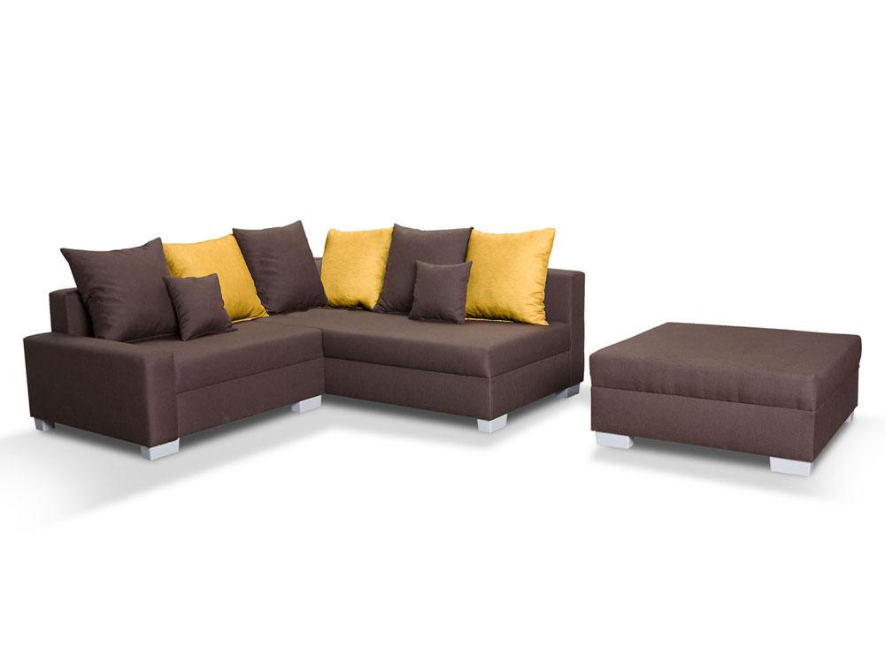 sam ecksofa und hocker braun sonja stoff schlafsofa. Black Bedroom Furniture Sets. Home Design Ideas