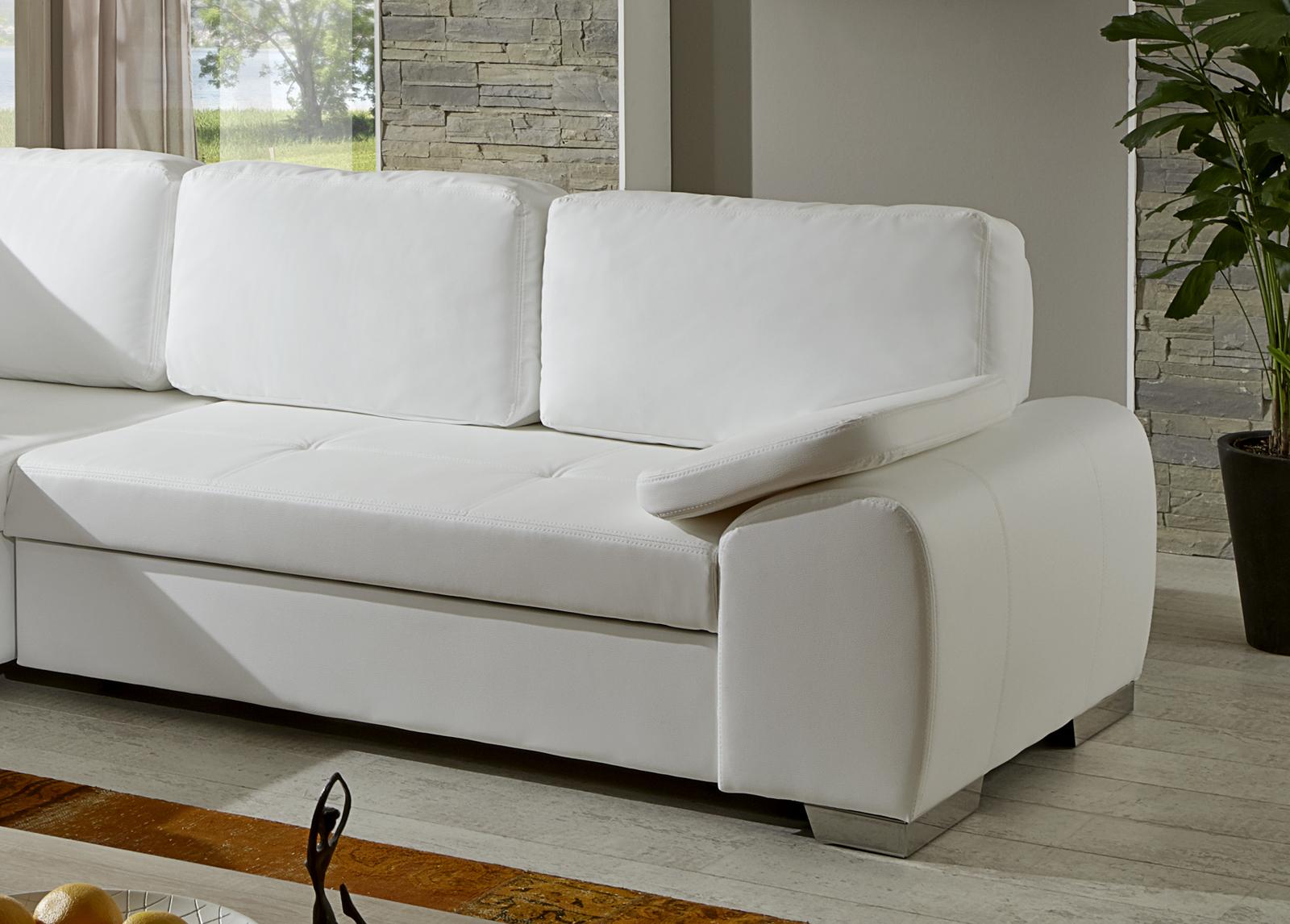 sam ecksofa wei ernesto schlafsofa 200 x 250 cm. Black Bedroom Furniture Sets. Home Design Ideas