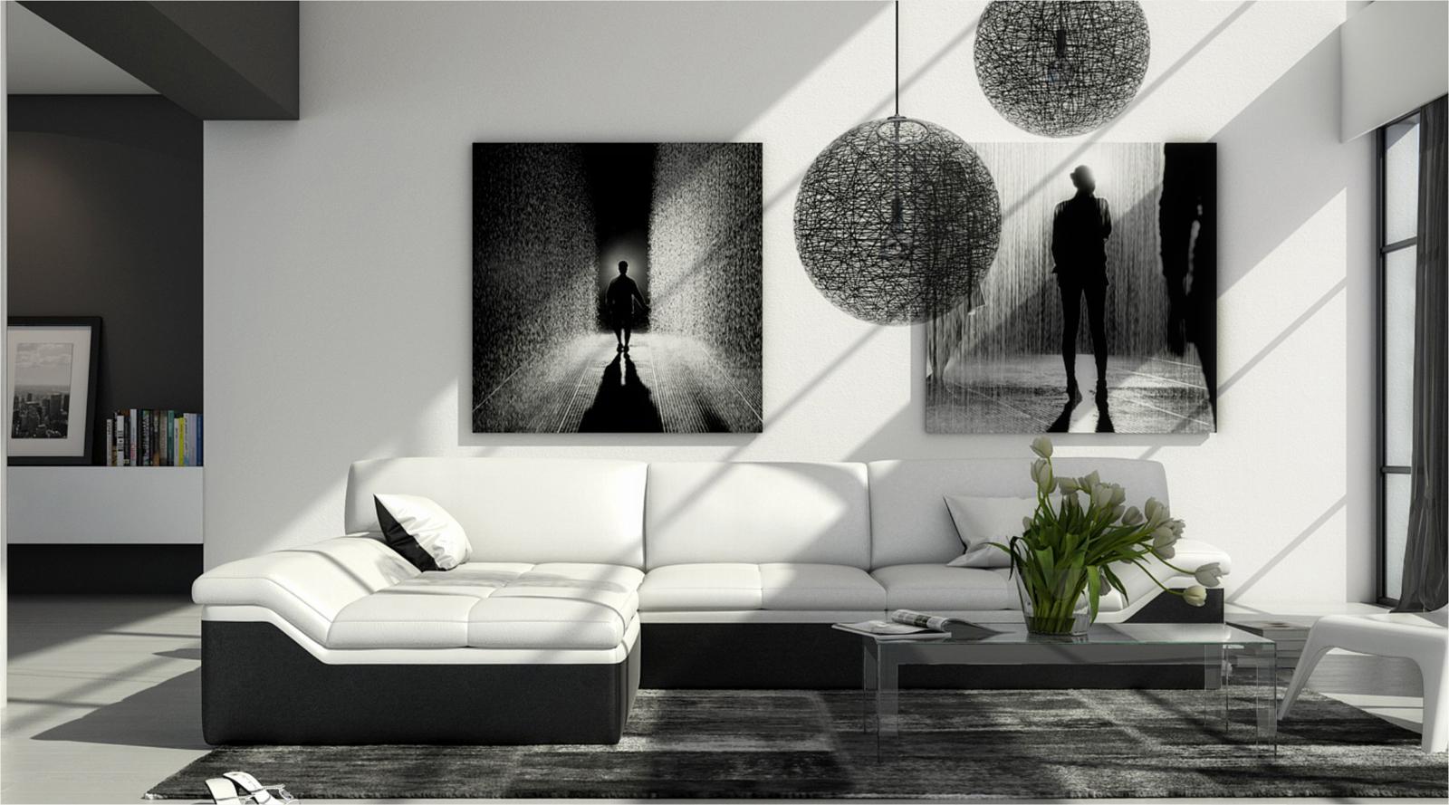 Sam ecksofa wei schwarz mistico polsterecke 220 x 270 cm for Ecksofa trends
