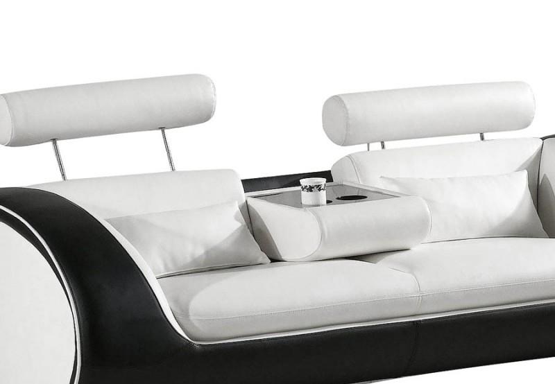 sam ecksofa wei schwarz vigo combi 4 couch 286 x 254 cm. Black Bedroom Furniture Sets. Home Design Ideas
