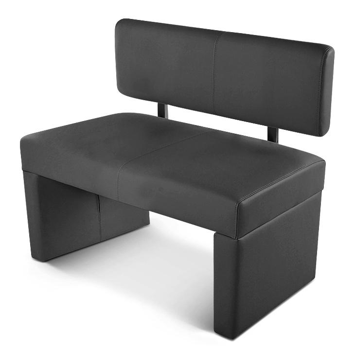 sam einzel sitzbank sabatina 100 cm recyceltes leder grau demn chst. Black Bedroom Furniture Sets. Home Design Ideas