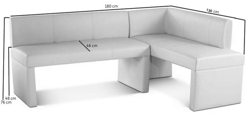 sam esszimmer eckbank recyceltes leder in creme marseille i. Black Bedroom Furniture Sets. Home Design Ideas