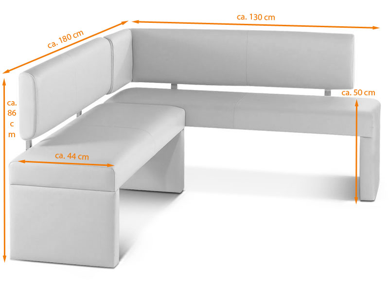 SAM® Esszimmer Eckbank Recyceltes Leder SONO 180 X 130 Cm .