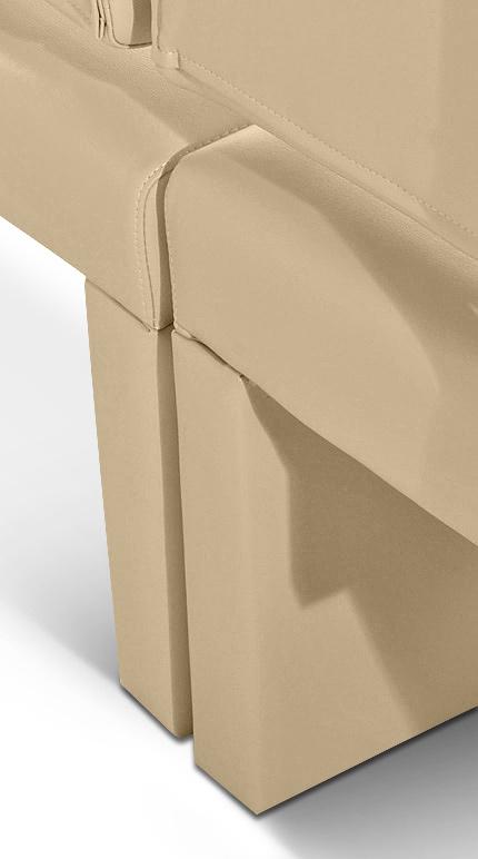 SAM® Esszimmer Sitzbank Recyceltes Leder Creme 180 Cm .