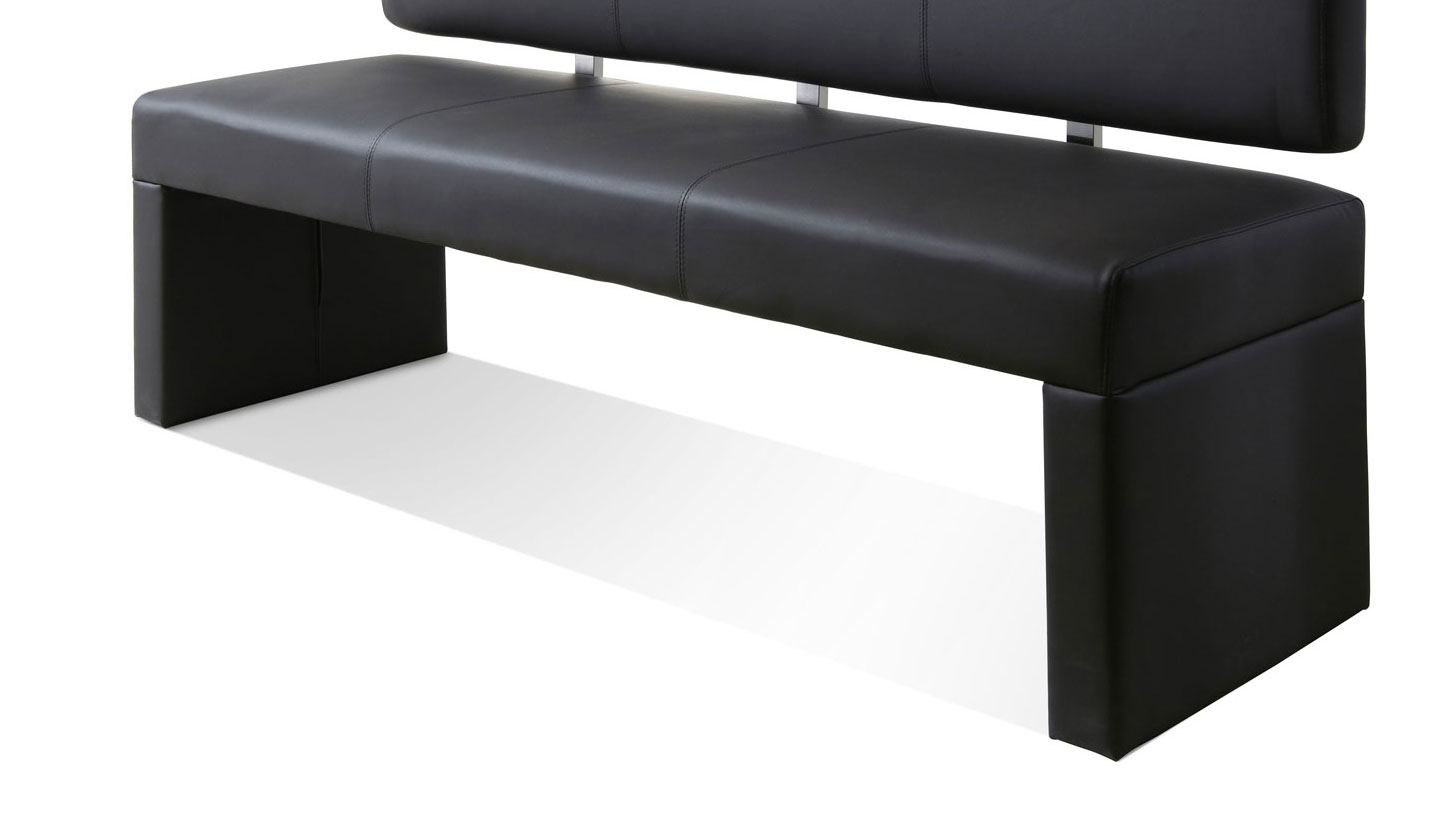 sam esszimmer sitzbank recyceltes leder hellgrau 180 cm silas. Black Bedroom Furniture Sets. Home Design Ideas