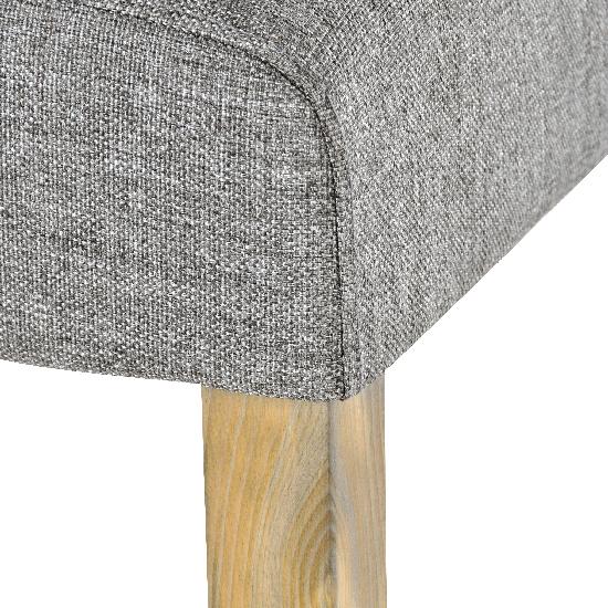 sam esszimmer stuhl stoff grau gr uliche beine cancun. Black Bedroom Furniture Sets. Home Design Ideas