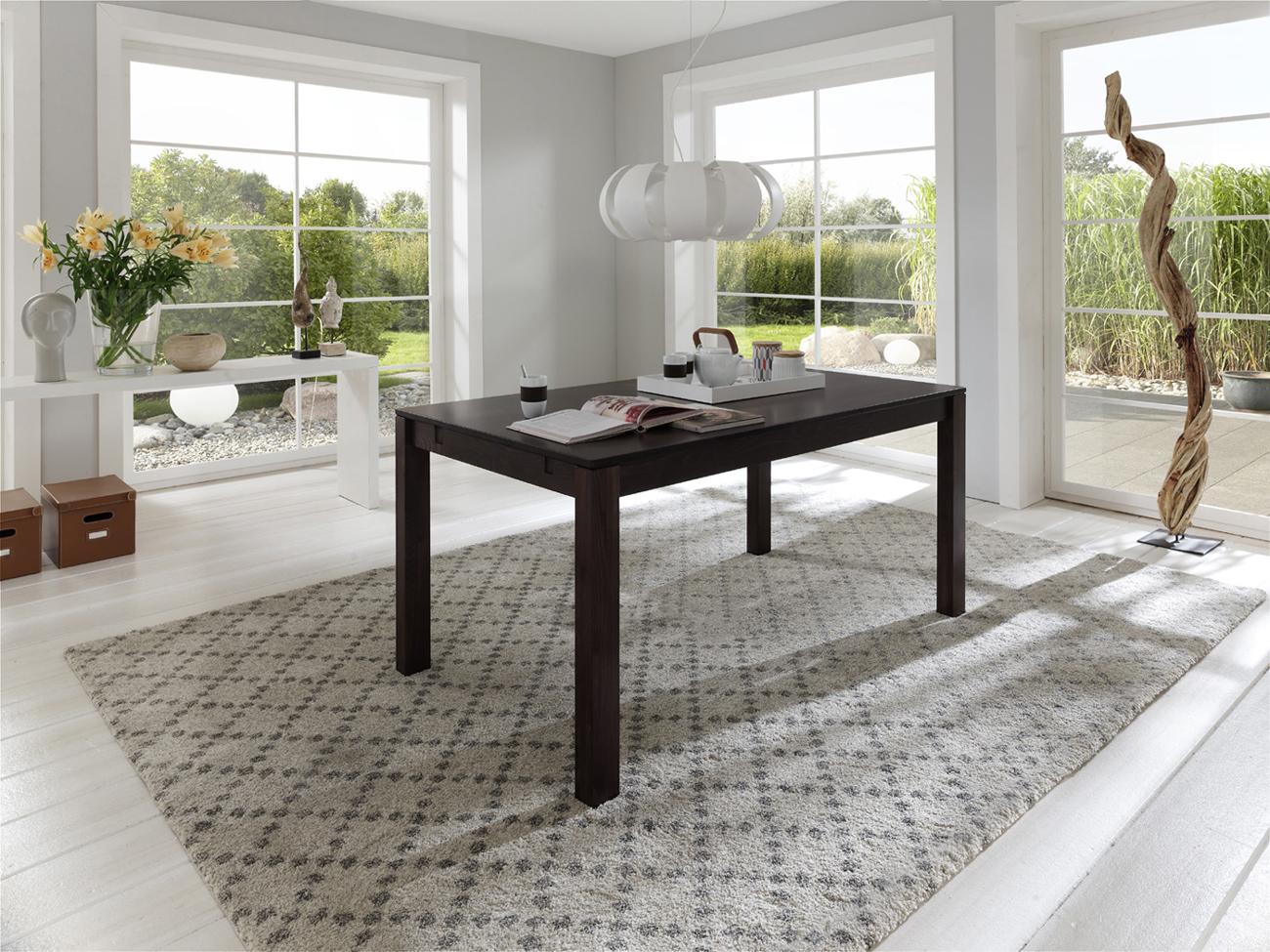 sam esszimmertisch wenge 180 x 90 cm massiv wilma. Black Bedroom Furniture Sets. Home Design Ideas