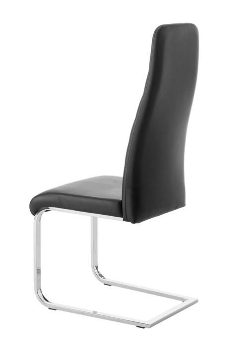 sam freischwinger stuhl in schwarz metall pauline 30. Black Bedroom Furniture Sets. Home Design Ideas