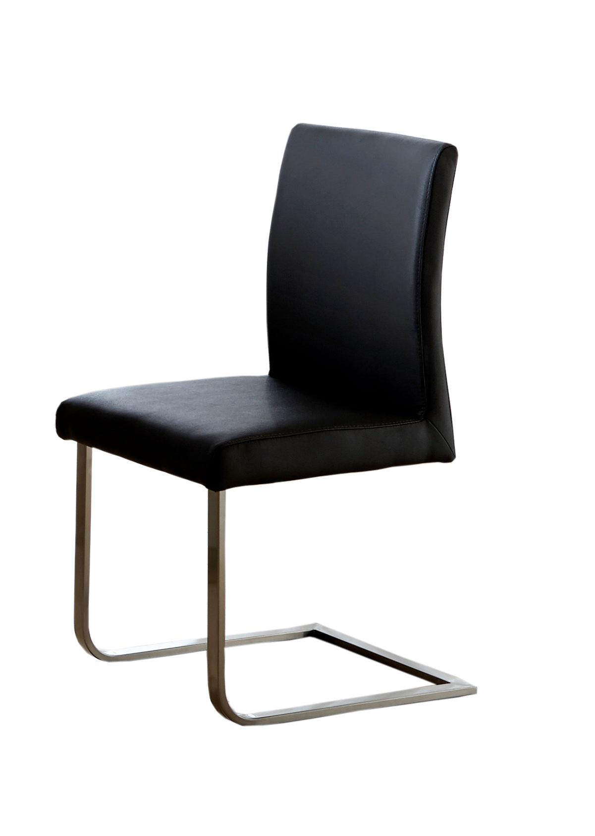 sam freischwinger stuhl schwarz edelstahl norderoog. Black Bedroom Furniture Sets. Home Design Ideas