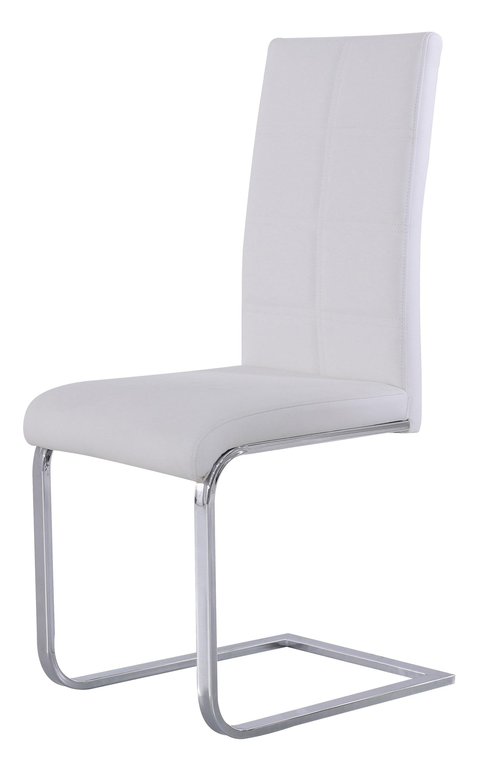 sam freischwinger stuhl wei chromfarben mara. Black Bedroom Furniture Sets. Home Design Ideas