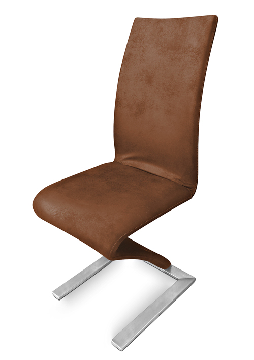 Sam freischwinger stuhl wildleder optik edelstahl sam 2175 for Stuhl wildleder