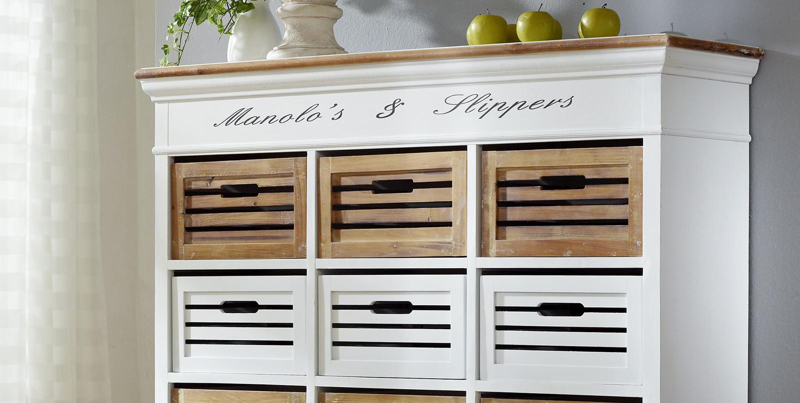 sam gro es regal wei lackiertes paulowniaholz paris 410. Black Bedroom Furniture Sets. Home Design Ideas