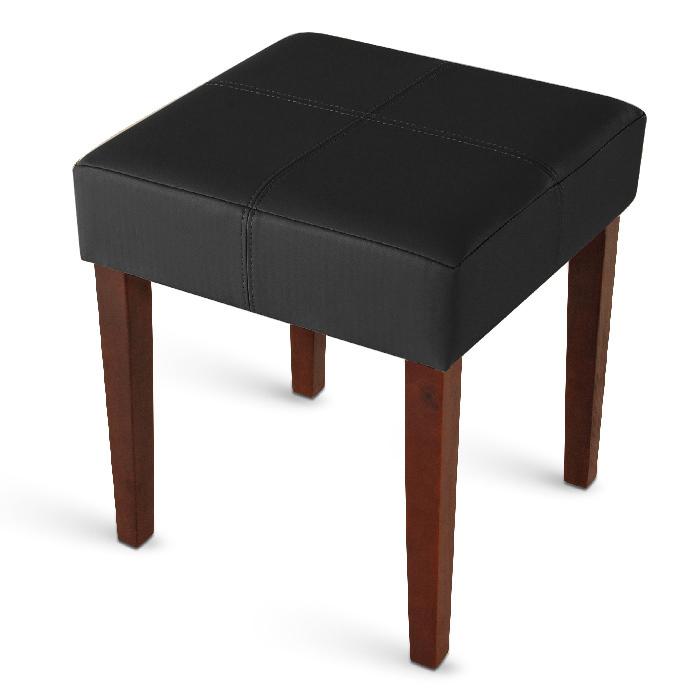 sam hocker aus recyceltem leder schwarz kolonial nina. Black Bedroom Furniture Sets. Home Design Ideas