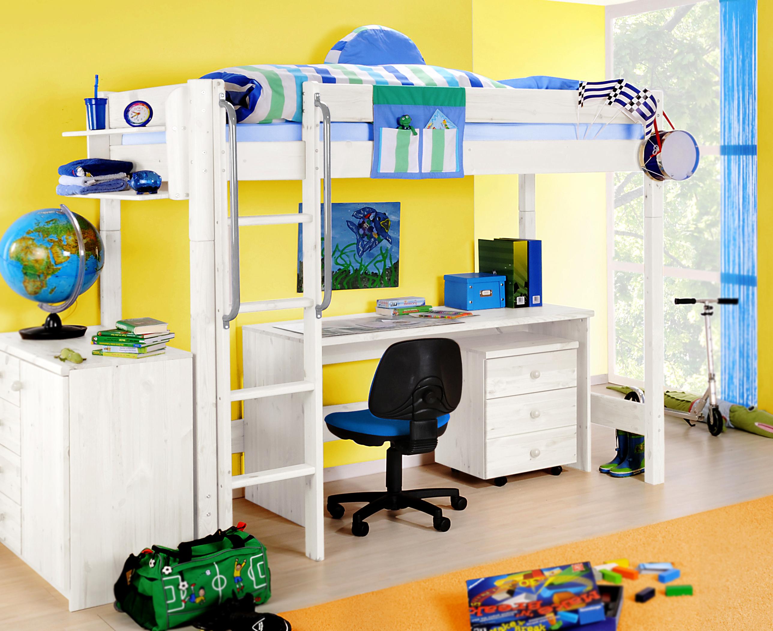 sam kinder hochbett wei optional massivholz wolke7. Black Bedroom Furniture Sets. Home Design Ideas