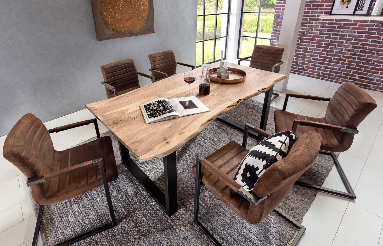 sam massivholz akazie tisch 180 cm pazivo g nstig. Black Bedroom Furniture Sets. Home Design Ideas