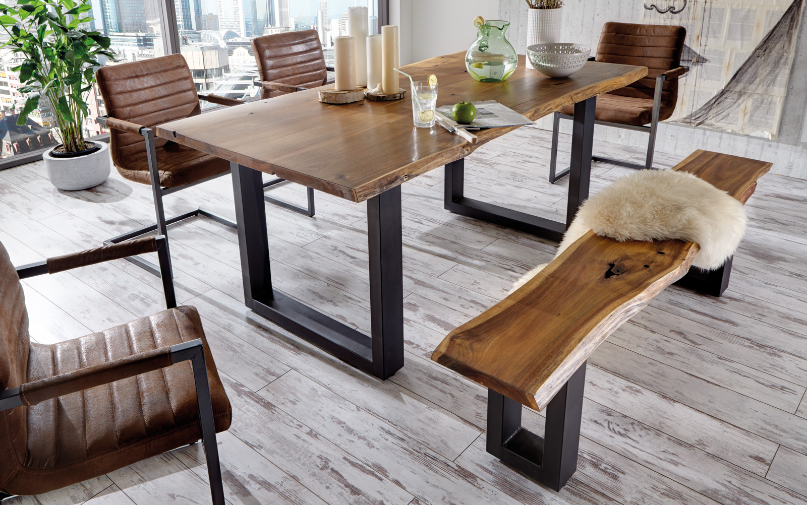 Sam massivholz akazie tisch 180 cm quentin g nstig for Tisch massivholz