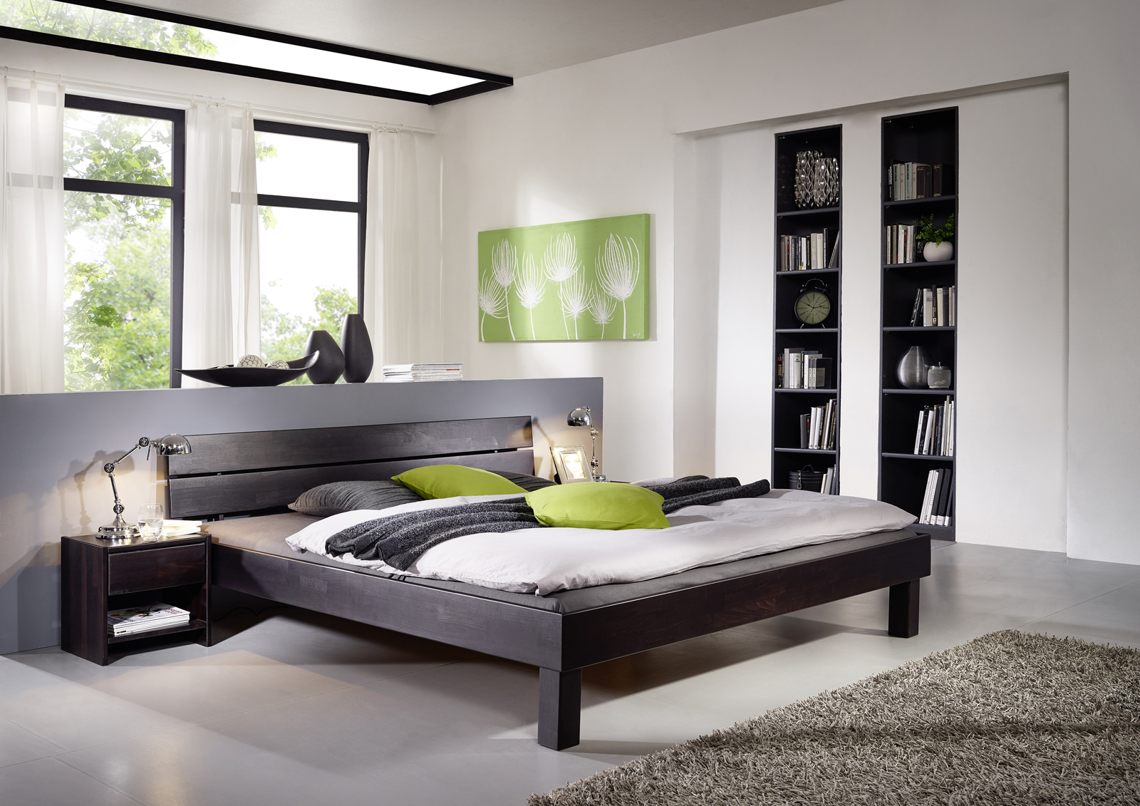 sam massivholzbett 90 x 200 cm wenge geteilt campino. Black Bedroom Furniture Sets. Home Design Ideas