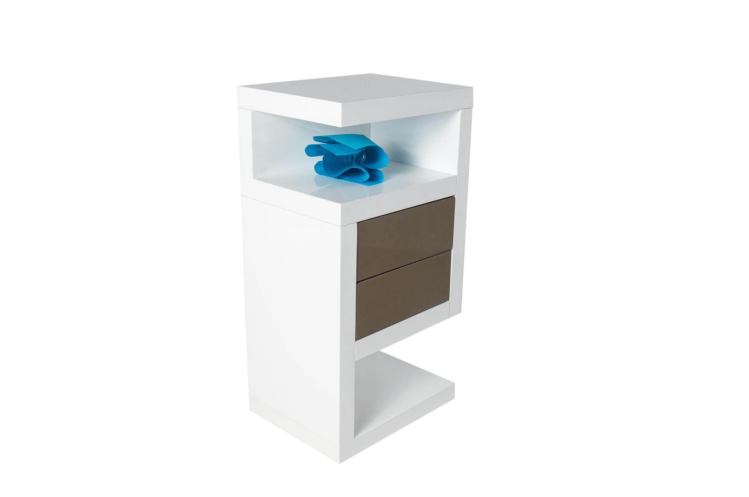 sam nachtkommode wei hochglanz rechts boxspring nako neomi. Black Bedroom Furniture Sets. Home Design Ideas