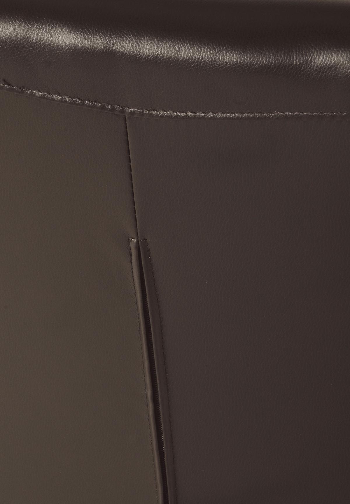 sam polster stuhl recyceltes leder braun eiche asti. Black Bedroom Furniture Sets. Home Design Ideas