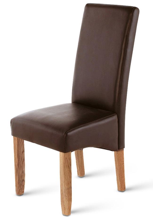 sam polster stuhl recyceltes leder braun stone monte. Black Bedroom Furniture Sets. Home Design Ideas