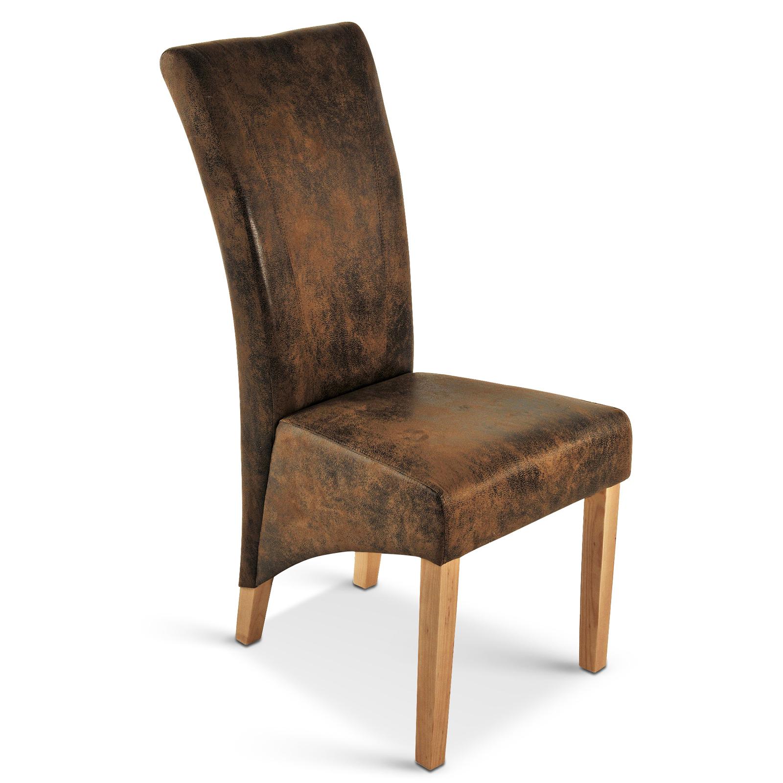 sam polster stuhl wildleder optik buche salento. Black Bedroom Furniture Sets. Home Design Ideas