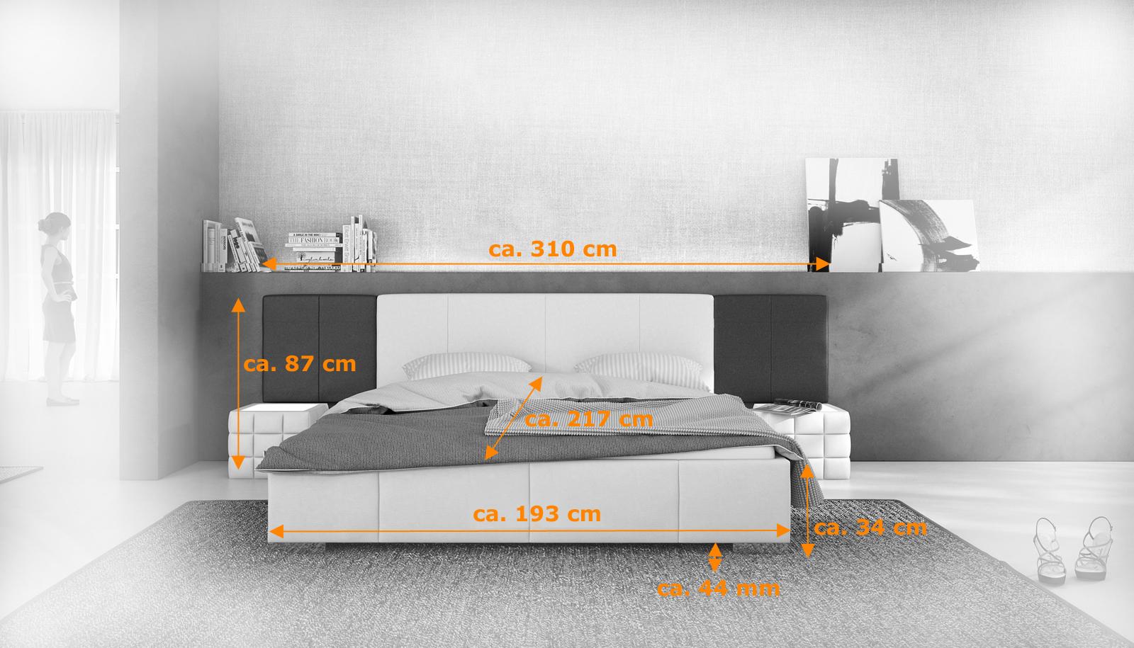 sam polsterbett 180 cm schwarz wei nemo mit soundsystem. Black Bedroom Furniture Sets. Home Design Ideas