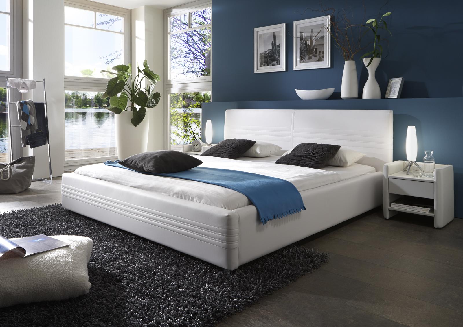 sam polsterbett 180 x 200 cm wei notturno g nstig. Black Bedroom Furniture Sets. Home Design Ideas